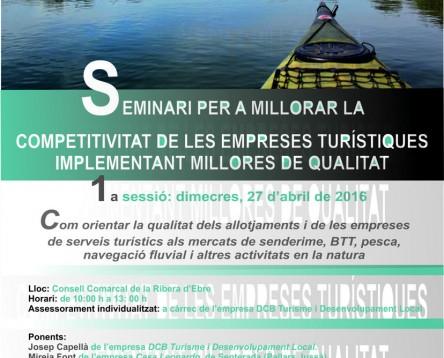 Imatge de la noticia Oberta la inscripció a un nou seminari per millorar la competitivitat del sector turístic de la Ribera