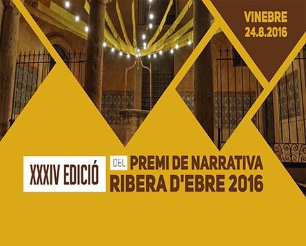 Imatge de la noticia Deu autors opten al XXXIV Premi de Narrativa Ribera d'Ebre 2016 que es lliura el 24 d'agost a Vinebre