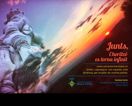 Imatge de la noticia El Consell Comarcal felicita les festes amb la imatge guanyadora del Ribera Art
