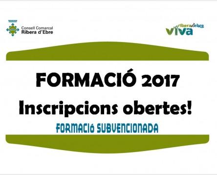 Imatge de la noticia Obertes les inscripcions als nous cursos formatius del Ribera d'Ebre VIVA per a aturats del 2017