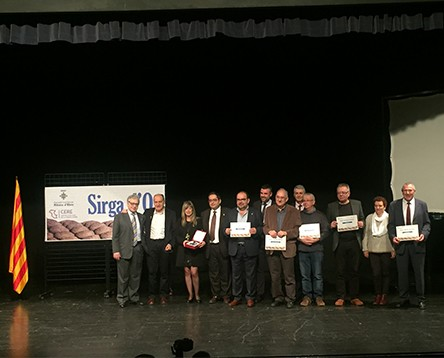 Imatge de la noticia Joan Launes, Josep Sánchez Cervelló i el Premi de Narrativa Ribera d'Ebre, premi Sirga d'Or 2016