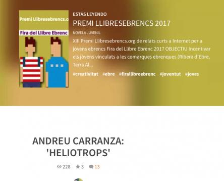 Imatge de la noticia Aquest divendres finalitza el termini escriure un final al relat d'Andreu Carranza per a Llibresebrencs.org