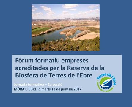 Imatge de la noticia El Consell Comarcal, seu d'un fòrum d'empreses acreditades per la Reserva de la Biosfera de Terres de l'Ebre