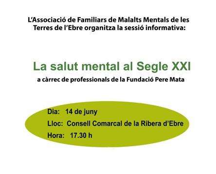 Imatge de la noticia L'AFMMTE organitza una xerrada sobre salut mental al Consell Comarcal de la Ribera d'Ebre