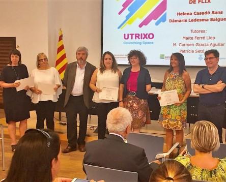 Imatge de la noticia Dues alumnes de l'Institut de Flix guanyen un accèsit al Millor Projecte d'Emprenedoria a l'FP de les Terres de l'Ebre