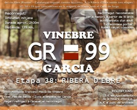 Imatge de la noticia Oberta la inscripció per a la segona caminada popular pel GR-99, que anirà de Vinebre a Garcia