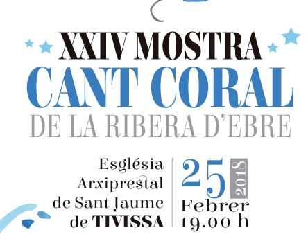 Imatge de la noticia L'Església Arxiprestal de Sant Jaume de Tivissa, escenari diumenge de la XXIV Mostra de Cant Coral de la Ribera