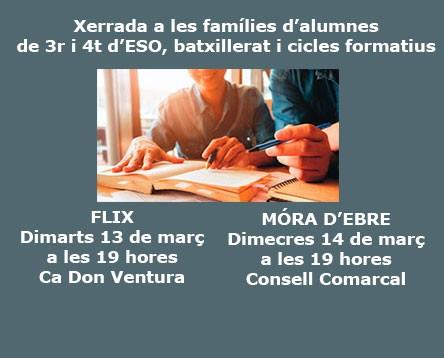 Imatge de la noticia S'organitzen dues xerrades d'orientació acadèmica per a pares amb fills adolescents
