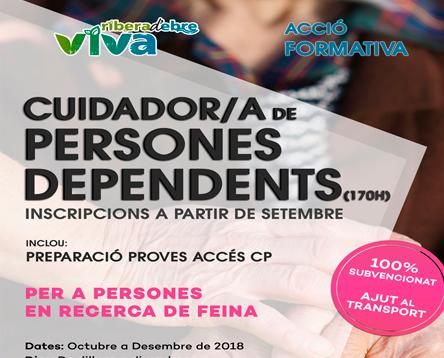 Imatge de la noticia Oberta la inscripció a un curs de cuidador/a de persones dependents, un dels perfils laborals més demandats a la comarca
