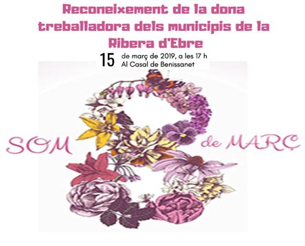 Imatge de la noticia Benissanet acull demà la celebració del 8M Dia Internacional de la Dona Treballadora de la Ribera d'Ebre