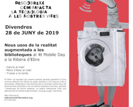 Imatge de la noticia Nous usos de la realitat augmentada a les biblioteques al 4t Mobile Day a la Ribera d'Ebre