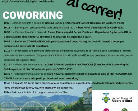 Imatge de la noticia La Ribera d'Ebre celebrarà el Dia Internacional del Coworking este divendres 9 d'agost