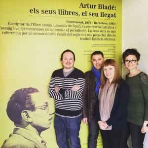 Impulsors del 20è aniversari de la mort d'Artur Bladé.