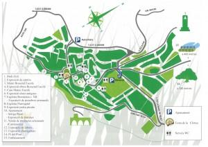 Diferents ubicacions de les activitats i serveis de la festa de la Clotxa a la Palma.
