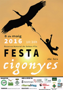 Cartell de la Festa de les cigonyes 2016.