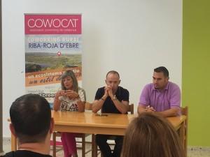 La presidenta comarcal, i l'alcalde i el regidor de Joventut de Riba-roja han fet la presentació de la jornada.