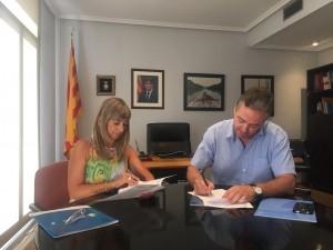 La signatura del conveni anual amb ANAV ha tingut lloc a la seu del Consell Comarcal, a Móra d'Ebre.