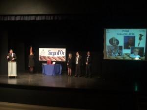 El Conseller de Cultura, Santi Vila, ha visitat la Ribera d'Ebre per participar en l'acte de lliurament del Sirga d'Or 2016.