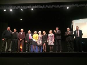 El premi a entitats ha comptat amb la presència de tots els alcaldes i regidors de Cultura Vinebre dels 35 anys de trajectòria del Premi Narrativa Ribera d'Ebre.