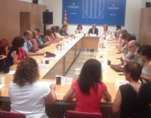 Imatge de la darrera reunió de la Mesa contra la Violència Masclista de les Terres de l'Ebre.